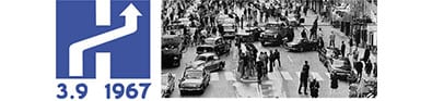 1967 Dagen H in Sweden: Traffic changes from driving on the left to the right overnight