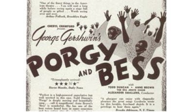 1935 George and Ira Gershwin&#8217;s <i>Porgy and Bess</i> opens on Broadway