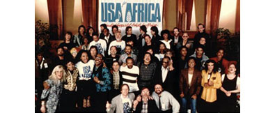 1985 Artists Gather to Record <i>We Are the World</i>