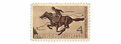1860 Pony Express debuts